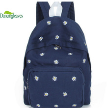 HOT Sale ! 2016 Spring Design Women Backpack Canvas Bag School Bags For Teenager Girls flower Embroidery Travel bag B161(China (Mainland))