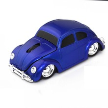 Xmas Gift 3D USB Optical Wireless Mouse Car VW Beetle Shape Cord Mause Mice Bug Beatles for PC Laptop & Desktop Free shipping(China (Mainland))