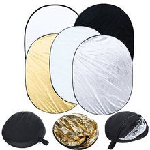 5 in 1 Multi Disc Photography Studio Photo Oval Collapsible Light Reflector 90 x 120cm / 35 x 47 inch