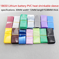 18650 battery casing bright transparent blue heat shrink tubing insulated battery cover battery skin PVC heat