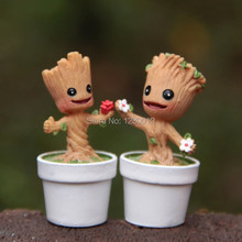 Free Shipping Brinquedos Guardians Of The Galaxy Mini Cute Groot Model Hand-done Action Toy Figures Cartoon For Kids