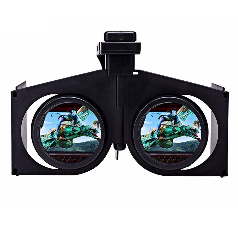 100pcs/lot VR Fold V1 3D VR BOX Immersive Glasses Google Cardboard Head Mount Helmet Video Phone Case For 4.7-6.0″ iOS Android