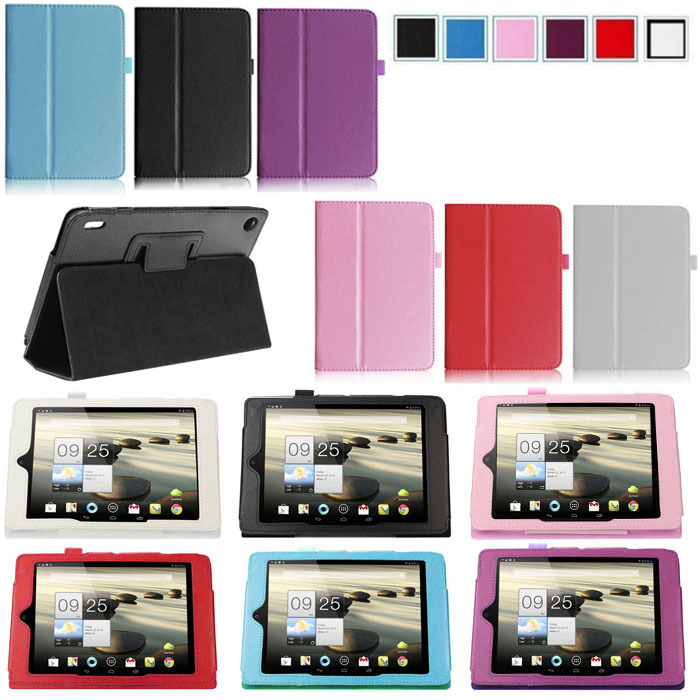 "Scolour Amazing Folding Folio Leather Case Cover Stand For Acer Iconia A1 A1-810 7.9"" Tablet Hot(China (Mainland))"
