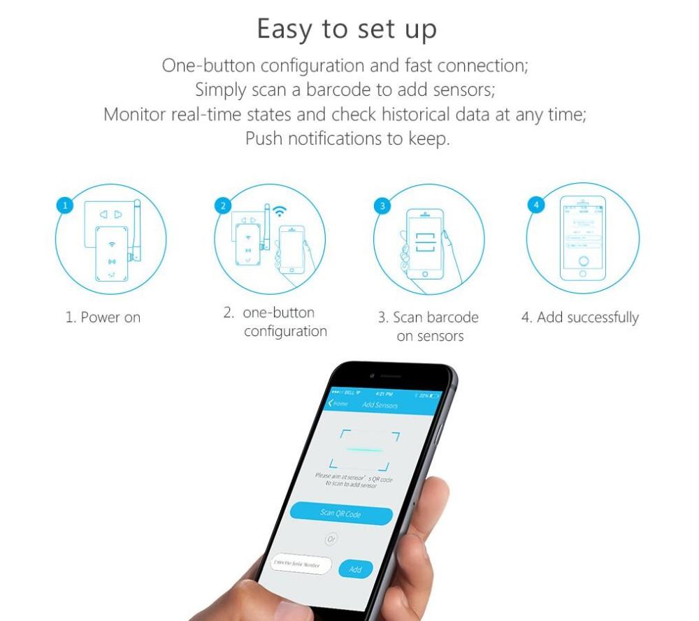 image for Broadlink S1 Smart Home Automation Kit SmartONE S1C PIR Sensor Motion