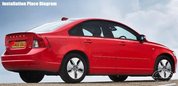 "Car Reverse Backup Rear Camera + 4.3"" TFT LCD Screen Monitor = 2 in 1 Rearview Parking System - For Volvo S40 S40L V40 V50"