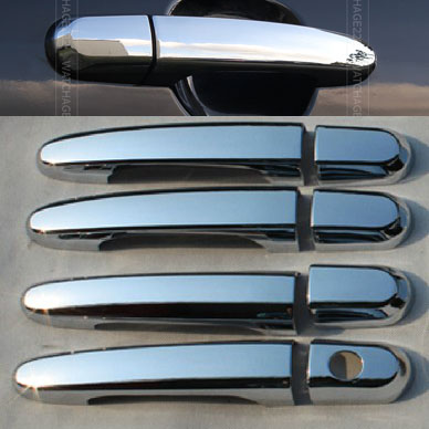 ACCESSORIES FIT 2005 2006 2007 2008 2009 2010 KIA SPORTAGE FOR CHROME SIDE DOOR HANDLE BAR COVER CATCH TRIM MOLDING(China (Mainland))