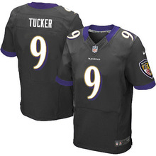 2016 Uomini Baltimore Ravens #9 Justin Tucker #5 Joe Flacco #57 CJ. Mosley #89 Smith_Sr Viola Nero Bianco, 100% logo cucito(China (Mainland))