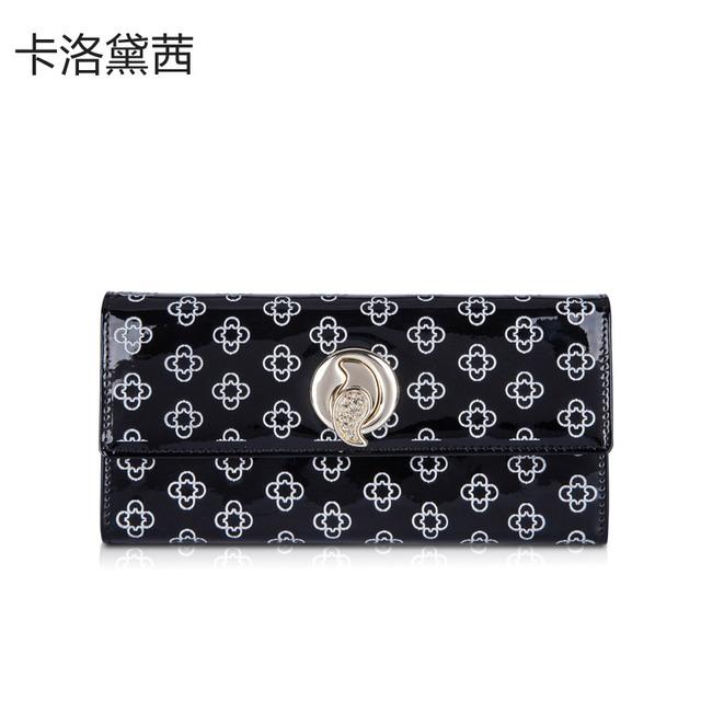 Wallet Women Coraldaisy   Wallets   Print   Purse  Tops Women New 2014 Money Clip Genuine Leather