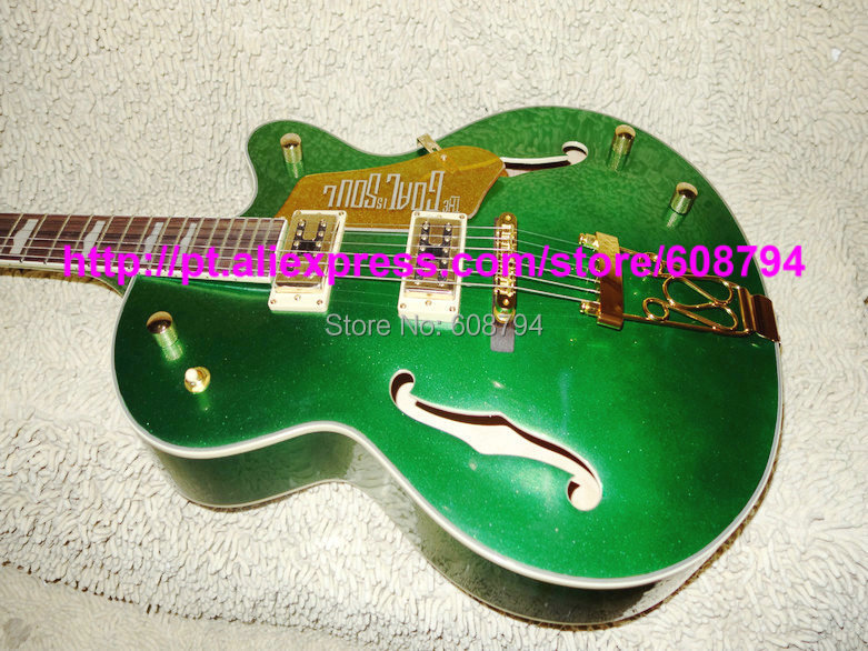Custom Goal is SOUL Green Electric Guitar Hollow Jazz Guitars China guitar Free shipping(China (Mainland))