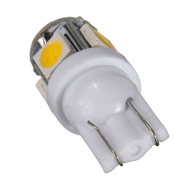 Best Price 10pcs lot Warm White 3000K T10 W5W 5 SMD 5050 LED Car Auto License