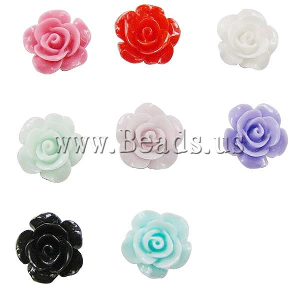 Free shipping!!!Resin Cabochon,Wholesale Jewelry, Flower, mixed colors, 20mm, 5Bags/Lot, Sold By Lot<br>