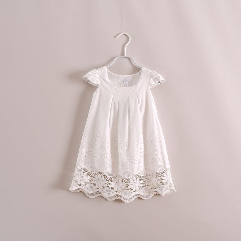 Girls summer white lace dress , girls dresses children , kids dresses , 6pcs/lot   YS21<br><br>Aliexpress