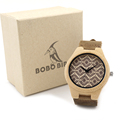 BOBO BIRD New Brand Bamboo Wooden Women s Luxury Leather Band Watches Female Wristwatches as Great