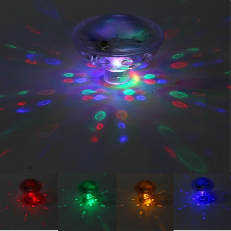 LED Colorful Bathtub Light 5 Lighting Modes Underwater Glow Show Lamp Pond Pool Swimming LED Light Disco SPA Light Waterproof(China (Mainland))