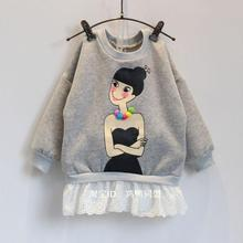 Girls fashion top sweatshirts children cute clothes thick winter warm 2015 autumn fall print long sleeve (China (Mainland))