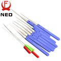 NED High Quality 12 PCS Color Blue Fold Pick Tool Broken Key Remove Auto Locksmith Tool