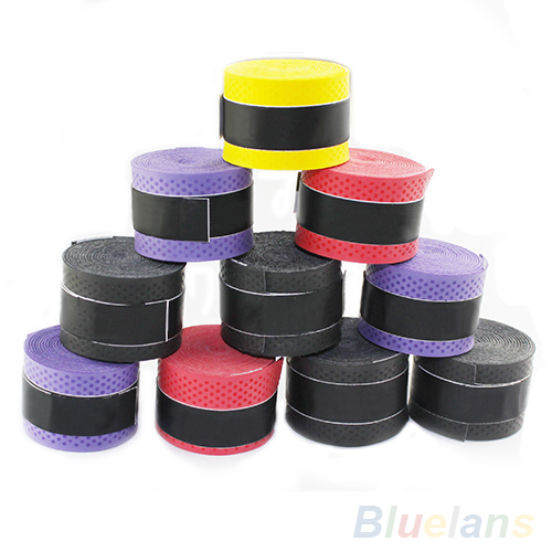 New 10pcs Anti-slip Racket Over Grips Sweatband for Tennis Badminton Sport Safety 084X(China (Mainland))
