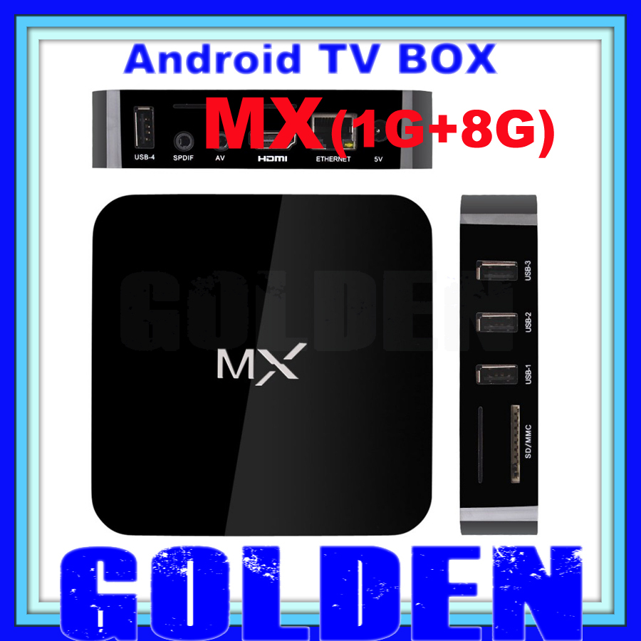 20pcs original mx tv box android 4.2.2 amlogic 8726 MX tv box 1G/8G preinstalled all XBMC APPS android media player tv box MX(China (Mainland))