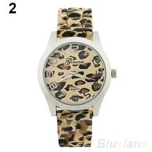 Sale Casual Sexy Women Girls Ladies Geneva Leopard Jelly Silicone Quartz Wrist Watch Watches For Christmas
