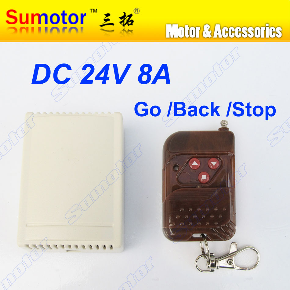 DC 24V 8A MOTOR wireless remote controller switch forward reversal 315MHZ 2 CH RF Linear actuator motor house automation system(China (Mainland))