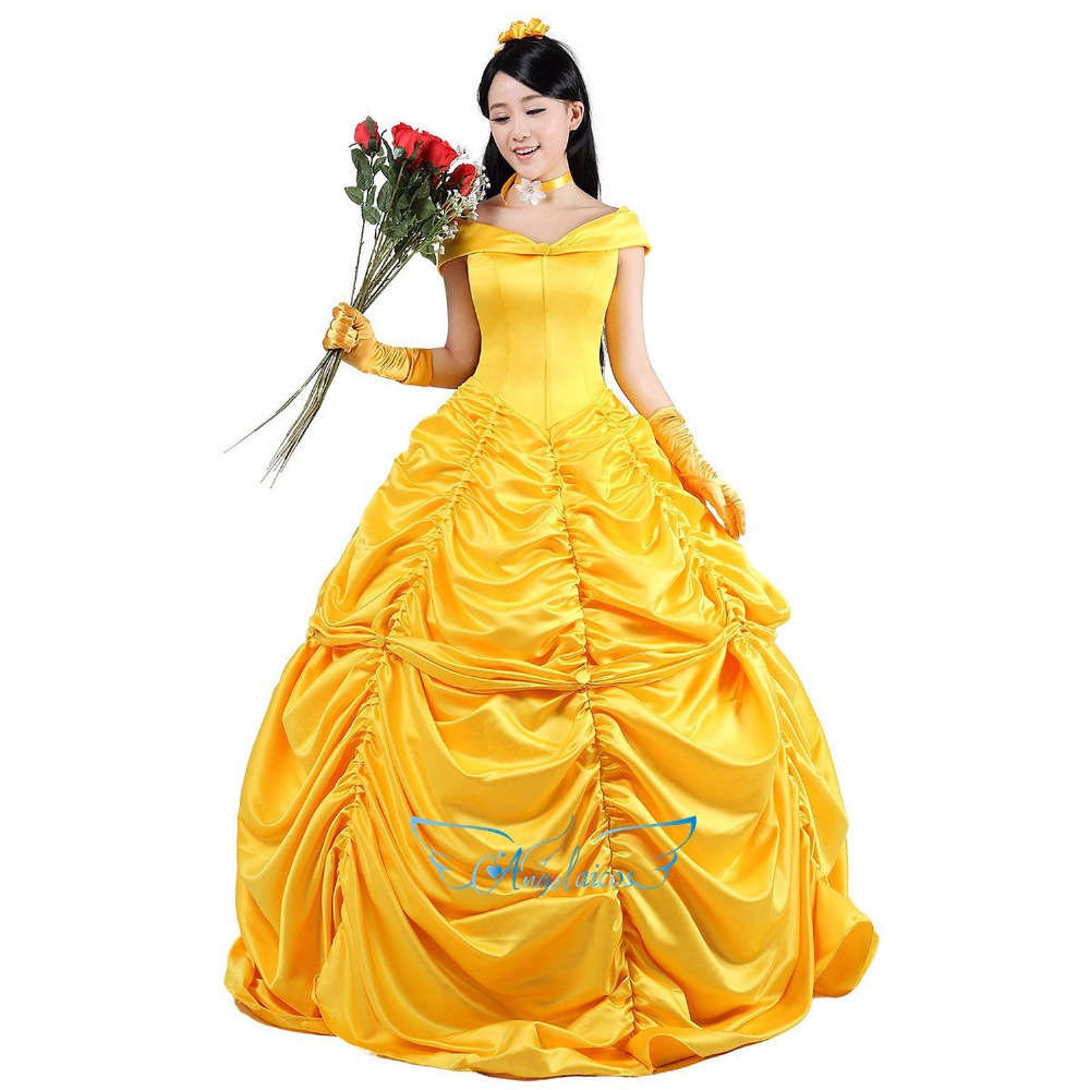Top Sale Party Prom Dress Yellow Wedding Dresses Adult