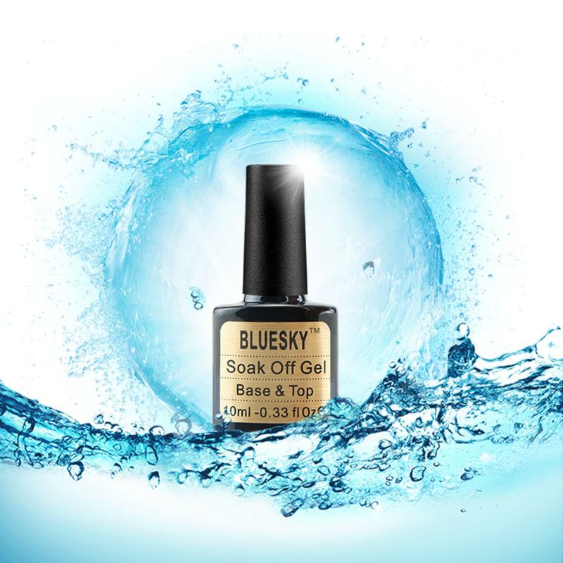 High Quality Gel Polish Bluesky Base Coat And Top Coat Nail Art UV Gel Cuticle Oil