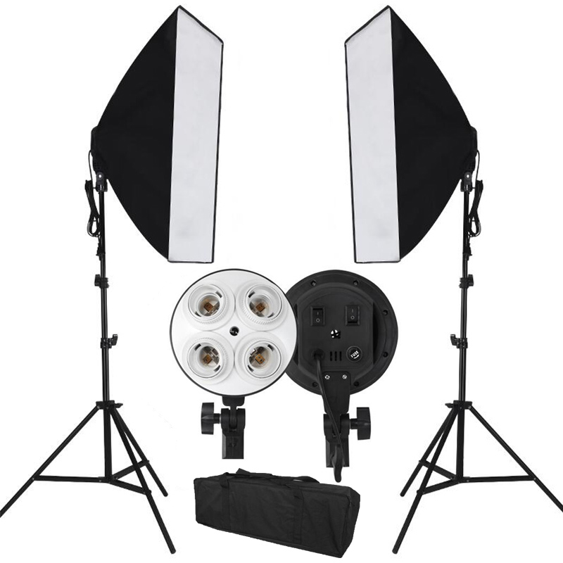 Special Offer Photography Softbox Light Kit Photo Equipment of Soft Studio Light & Cube Softbox Light Box & Universal Mount(China (Mainland))