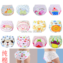 3 pieces/lot-38 Designs Animal  Baby training pants/Cartoon Infant waterproof cotton diaper pants/Character kids underwears(China (Mainland))