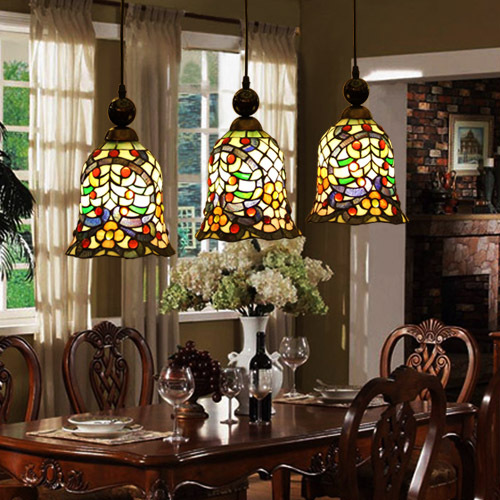 Tiffany style stained glass kitchen lamp hanging light(China (Mainland))