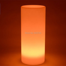 Height 75CM Waterproof Color changing Decor PE Wedding Party Long Column/Colonne luminous lamp of Tower Landscape lighting