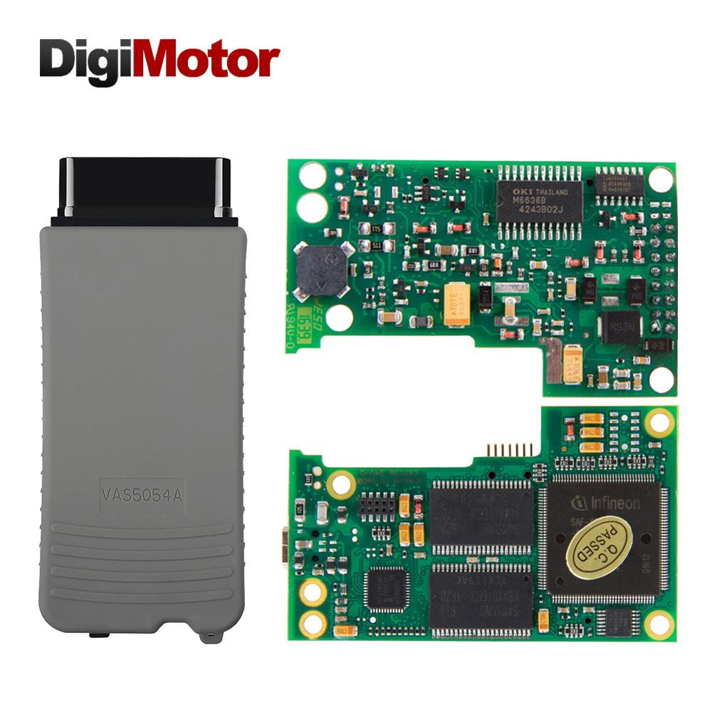 Digimotor VAS5054 VAS 5054A Full Chip OKI AMB2300 UDS ODIS v3.0.3 OBD2 Bluetooth Adapter VAS5054A Diagnostic Tool Scanner OBD2(Hong Kong)