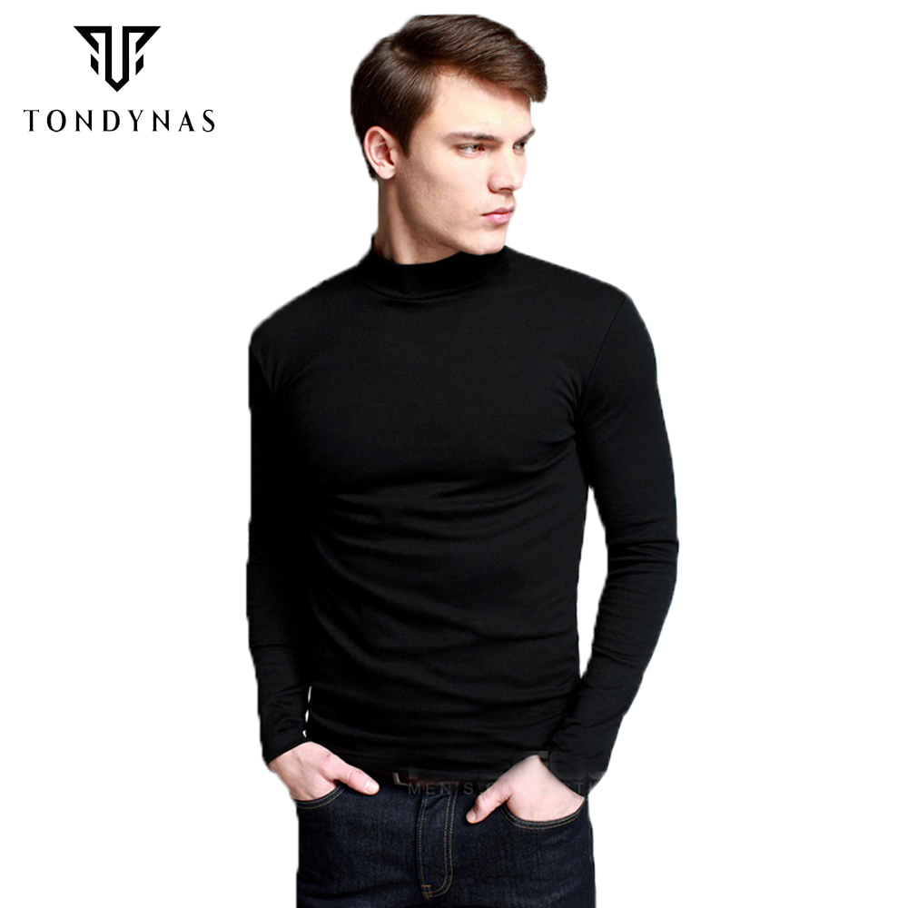 Buy men 39 s thicken t shirt half for Turtleneck under t shirt