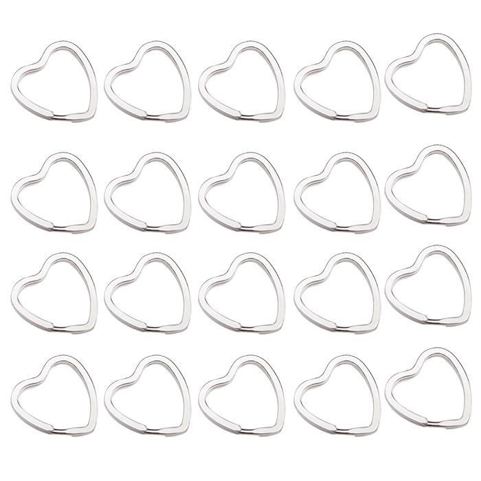 2 шт/много 20 шт в форме сердца сплит кольца брелоки
