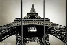 100% city landscape painting calligraphy on the wall art set picture canvas painting Eiffel Tower large size 30*80cm*3 pieces(China (Mainland))
