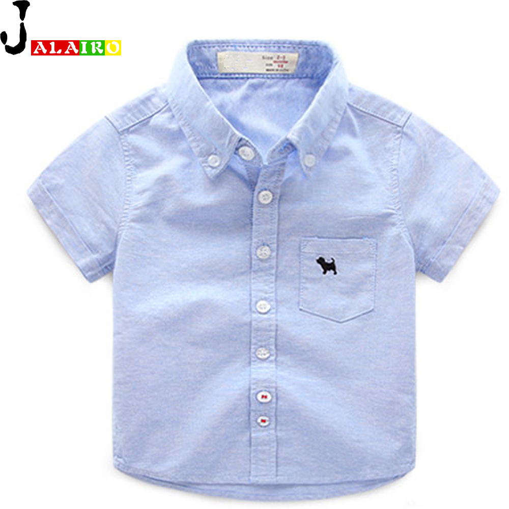 2016 Baby Boys Shirts White Pink Blue Yellow Boy Shirt