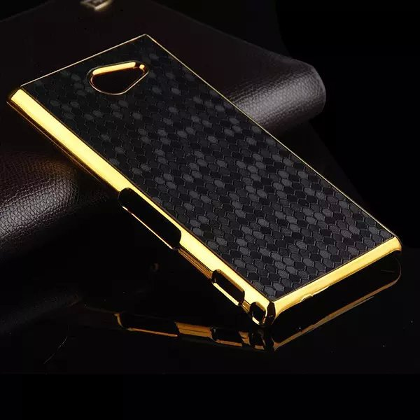 Coque For Sony M2 Case Luxury Hybrid Gold Frame Football Plated Plastic Hard Back Case Cover for Sony Xperia M2 Phone Bag(China (Mainland))