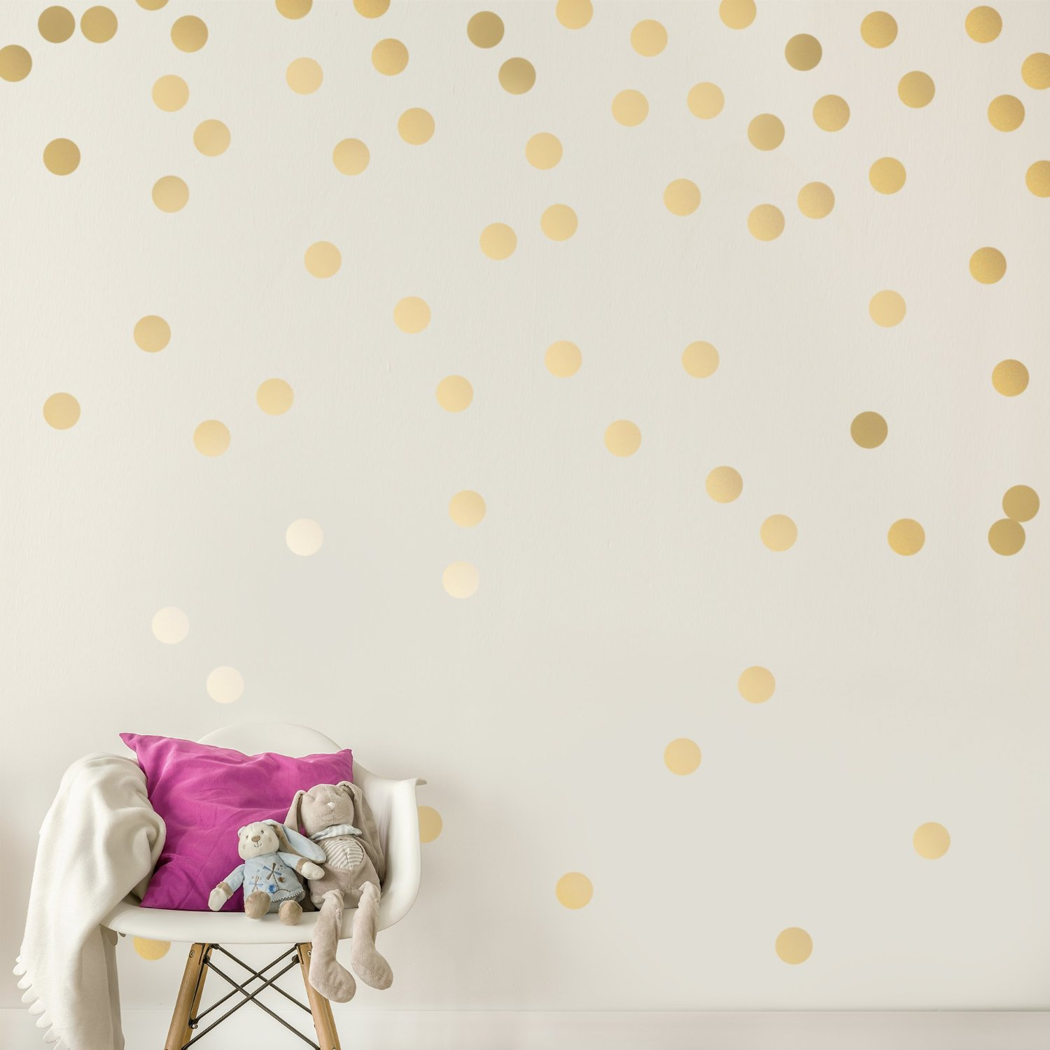c053 gold wall decal dots easy peel stick round circle art