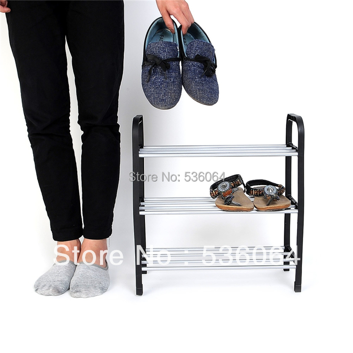 Гаджет  New Simple combination of 3-layer Plastic Shoes Rack Organizer Stand Shelf Holder Unit Black Light Freeshipping None Мебель
