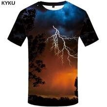 KYKU Water T-shirt Mannen Zwart Anime Tshirt Yin Yang Vlam 3d T-shirt Gothic Grappige T-shirts Hip Hop Mens kleding Nieuwe Zomer Tops(China)