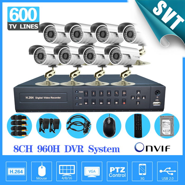 8Ch security video Surveillance CCTV outdoor Camera system 8ch 960h HDMI 1080p dvr nvr hvr camera System kit with hdd 1tb SK-245<br><br>Aliexpress
