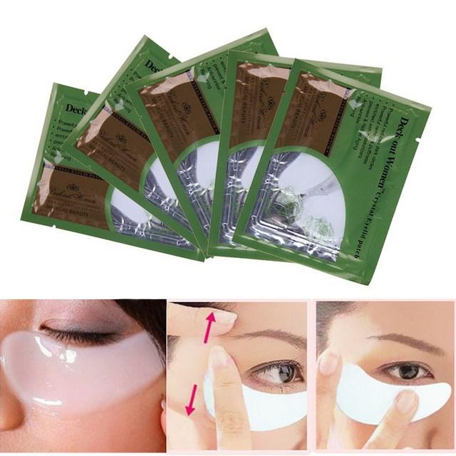 Бесплатная Доставка 5x Коллаген Crystal Eye Mask Пластика Век Patch Влажность GUB ...