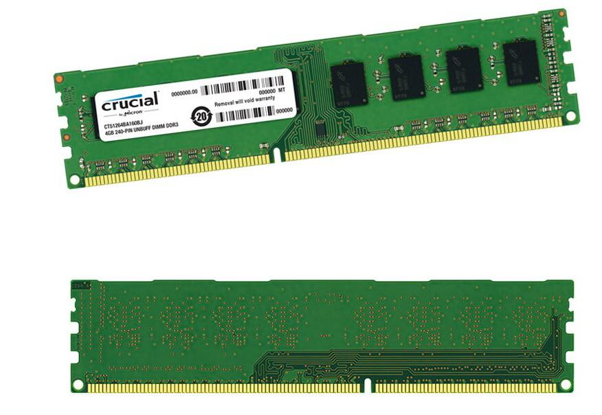 Crucial DDR3 RAM 1600MHz 4GB Desktop PC Computer Memory Module 240PIN DIMM Memoria RAM Bar Compatible 1333,Applicable Intel AMD(China (Mainland))