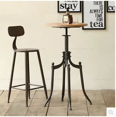 Rustproof iron coffee bar stool high chair<br><br>Aliexpress