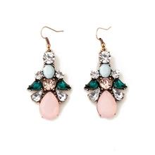 Buy Women's Wild White Crystal Flowers Drip Gold Color Dangle Earrings brincos oorbellen Jewelry for $1.27 in AliExpress store