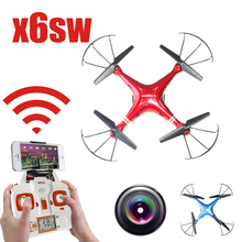 New Arrive X6sw WIFI Fpv Toys Camera rc helicopter drone quadcopter gopro professional drones with camera HD VS Drone(China (Mainland))