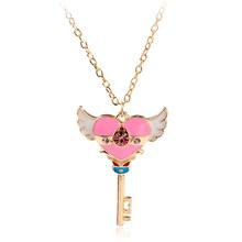 Classique Anime marin lune collier accessoires Cosplay mode bijoux collier ras du cou clé pendentif colliers pour femmes fille cadeau(China)