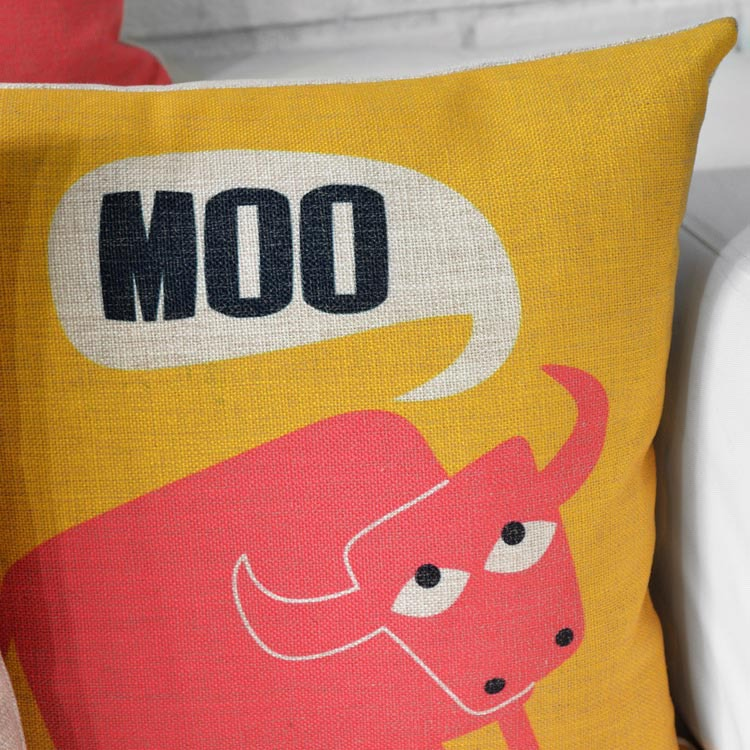 Modern Fairy Tale Animals pillow Cute Cartoon cushion Linen pillowcase chair Pillow home decoration sofa cushions