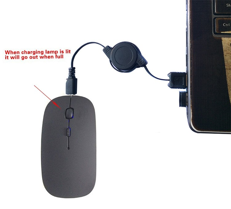 Rechargeable usb Wireless Mouse silent mute noiseless Optical Mouse for Laptop Computer Mice