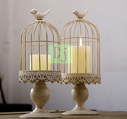 2015 New design top sales factory wholesale europe birdcage lantern Continental Iron Candle Holders wedding Decoration Home(China (Mainland))