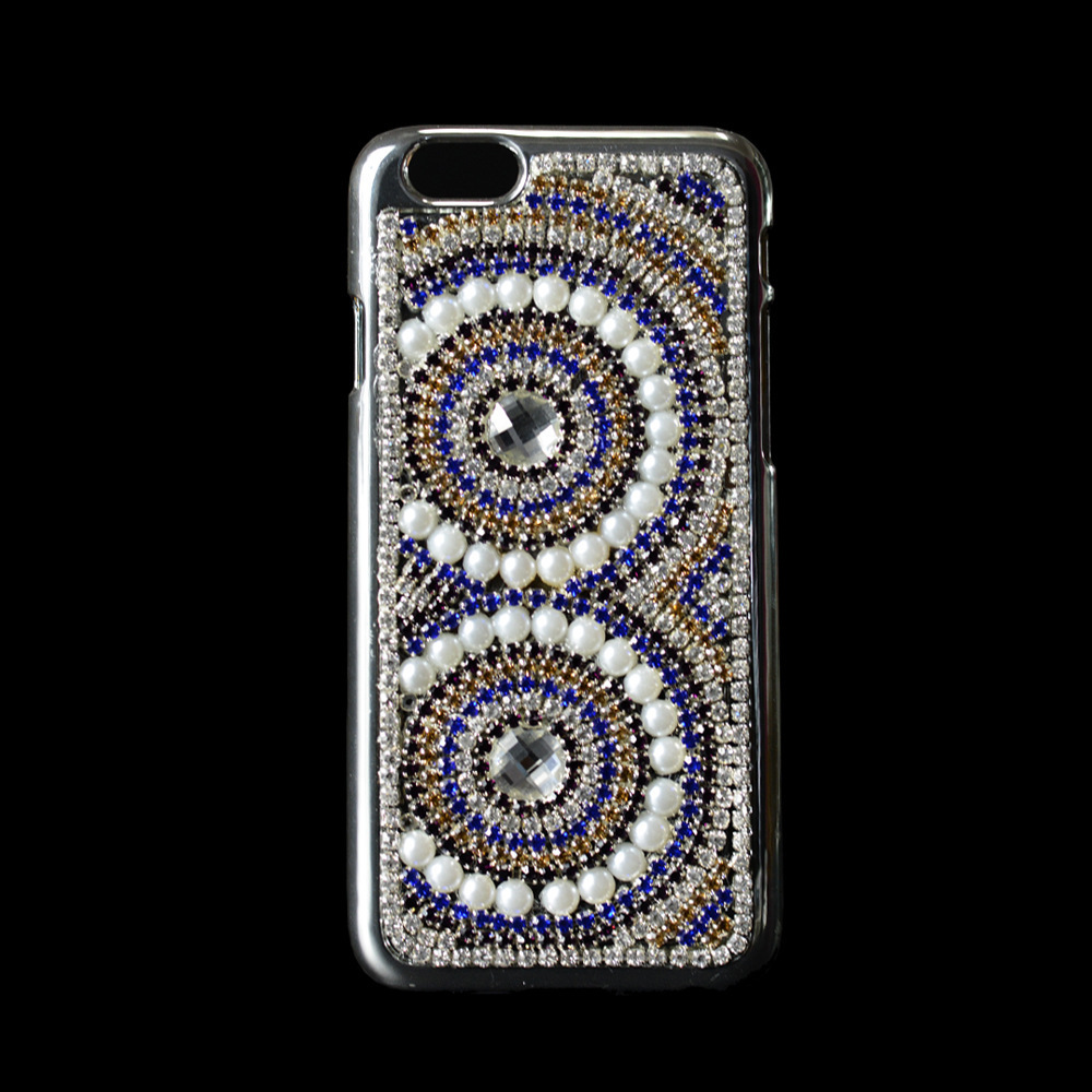 FreeShipping!Customize PC MibilePhone Case for IphoneSix 6.Plus 4.7/5.5 Pearls Rhinestone Skins Cover for IphoneFive 4S/5S/5C(China (Mainland))